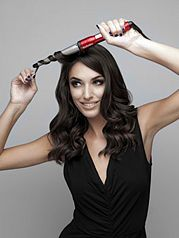 Making waves...can use a regular curling iron with out the clamp too :)