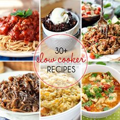 Over 30 Slow Cooker Recipes for stress free, easy, DELICIOUS, appetizers, dinners and desserts!
