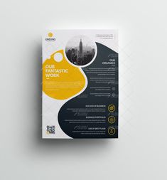 Orca Modern Premium Business Flyer Template 001056 - My Recommendations Graphic Design Flyer, Graphic Design Templates, Print Templates, Brochure Design, Business Flyer Templates, Brochure Template, Cover Design, Flyer Design Inspiration, Marketing Flyers