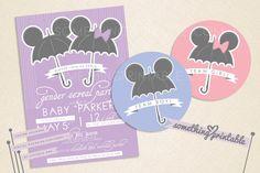 um.. yeah DISNEY  Team Baby - Disney Inspired Printable Gender Reveal Party Design. $15.00, via Etsy.