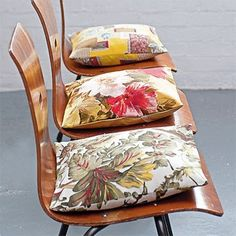cushions from vintage fabric