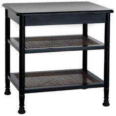 """Redford House Wellesley Cane Side Table Choose Your Finish - 28""""W x 21""""D x 28""""H"""