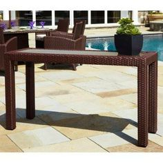 Anacara Atlantis All-weather Wicker Console Table