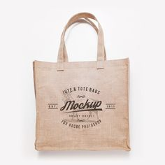 Mockup gratuito de bolsas de yute y algodón molonas