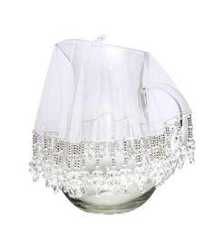 Cobre jarra - CJ002 - Tule e cristal