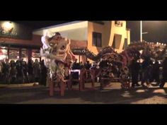 The Lion and Dragon Dance at StreetFood Asia