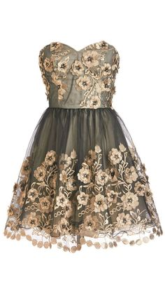 Floral tulle party dress