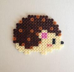 Cute Hama Beads Perler Hedgehogs by HamaBasi on Etsy