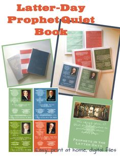 Beautiful, 24 page Prophets In the Latter-Days Book for my children to use in the car, church, or anytime they need to be quietly entertained!  Great price and 5 min project!!