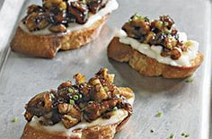 Crostini with Brie Dates and Toasted Walnuts — Punchfork