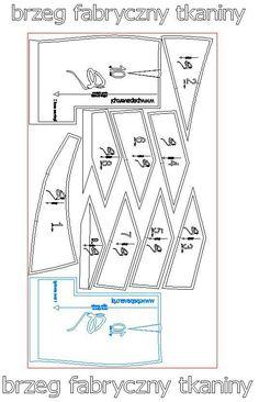 #3, Proponowany układ wykroju na tkaninie, KLIKNIJ aby obejrzeć w powiększeniu.