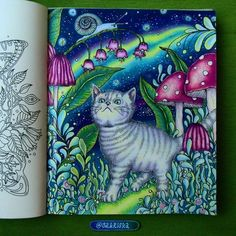 Lovely color-along #coloringdirty30 with my dear friends #gang18 I was unfaithful to my water colors and for this page I used Prismacolor premier pencils ✏✏✏ I absolutely love this cute page from the book Dagdrommar by Hanna Karlzon and I am happy about my Aurora borealis #dagdrömmar #arttherapy #adultcoloringbook #coloringbook #coloredpencil #colorforlife #drawing #daydreams #omalovankyprodospele #hannakarlzon #zasneni #podmesnivat #daydreamscolouring #colouringbook #colouring #...