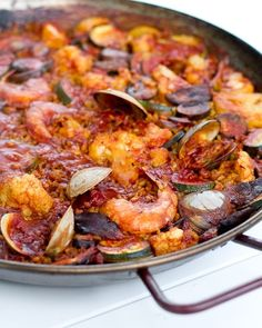 Paella is one of our most special meals. I instantly fell in love with this traditional Spanish dish while studying in Madrid several years ago. Inspired b