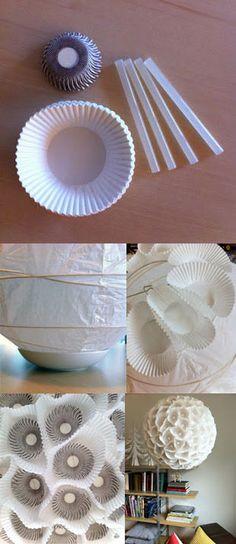 lampara papel moldes magdalenas muy ingenioso
