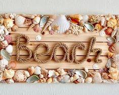Sea Crafts, Sea Glass Crafts, Diy And Crafts, Seashell Art, Seashell Crafts, Crafts With Seashells, Seashell Projects, Shell Decorations, Craft Projects