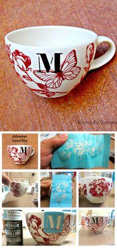 DIY Anthropologie inspired mug