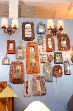 Group of 19 Ceramic Frame Mirrors by Juliette Derel image 2
