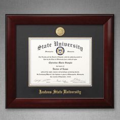 The Lancaster Diploma Frame Marries Traditional And Modern Design. The  Sleek Frame Design And Dark