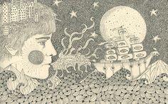 Barnacled Warship - Daria Hlazatova