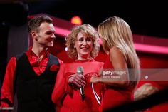 Beatrice Richter Vadim Garbuzov and Sylvie Meis attend the 1st show of the television competition...
