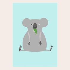poster koala Viviou. illustration  www.viviou.be