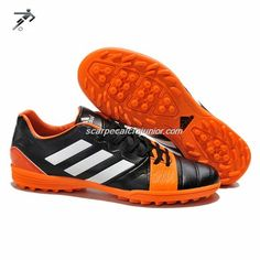 best loved 8789f 0ac7f Calcetto Scarpe Adidas Nitro Charge 3 TRX TF Bambino Kaka Nero Arancione  Mens Cheap Soccer Shoes