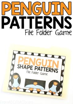 Work on shapes and patterns at the same time with this adorable penguin themed file folder game! #FromABCsToACTs #shapes #preschoolmath