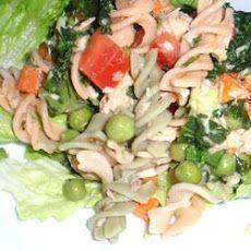 Easy Salmon Brown Rice Pasta Salad
