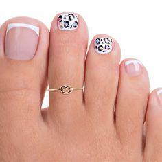 Sterling Silver Triple Band Toe Ring, Silver Adjustable Toe Ring, Silver Toe Ring, Band Toe Ring, To Pretty Toe Nails, Cute Toe Nails, Toe Nail Art, Acrylic Nails, Nail Nail, Pedicure Designs, Toe Nail Designs, Pedicure Ideas, Toenails