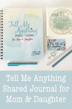 Mom & Daughter Journal from Kai Kai Brai, Journal girls Journal, Create, About Us, Girl Time Pages & Extras.. stickers, tabs, and PS Card!