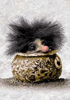 MelaNomie Troll in a stew, Stirring the Pot for the CessPoola and Crew. German Mythology, Viking Christmas, Kobold, Troll Dolls, Fairy Art, Magical Creatures, Faeries, Pretty Pictures, Art Dolls