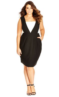 City Chic Tiffany Bow Back Dress - Women's Plus Size Fashion City Chic - City Chic Your Leading Plus Size Fashion Destination #citychic #citychiconline #newarrivals #plussize #plusfashion