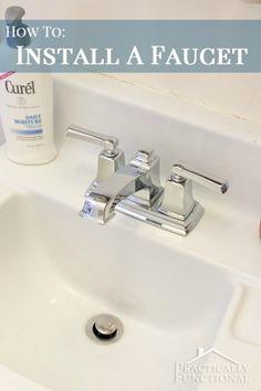 DIY Home Improvement: How To Install A Faucet #diy #homeimprovement