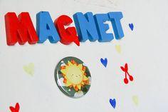Magnet illustré  Soleil  Ciel nuageux  rond  |  round sun cloud illustration magnet |  par pergelisol, €3.50