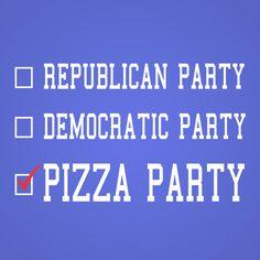 PIZZA PARTY Men's T-Shirt