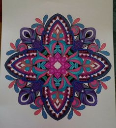 ColorIt Mandalas to Color Volume 1 Colorist: Barbara Jean Smith Kirby #adultcoloring #coloringforadults #mandalas #mandalastocolor