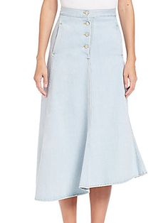 Acne Studios Asymmetrical Denim Skirt