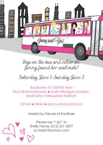 Party Bus Bachelorette Birthday Girls Night Out Ticket Style Party