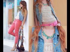 Cómo combinar Chalecos de DENIM | Vest Denim #denim #moda 2014 #chalecos #vest #jeans #fashion 2014 #tendencias #youtube #2014 #look #lookbook #video #canaldemoda #verano #summer #trend #style