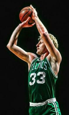 A young Larry Bird shows his perfect shooting form in this iconic photo art piece. Celtics Basketball, Basketball Pictures, Basketball Legends, Love And Basketball, Sports Basketball, Basketball Players, Basketball Shoes, Basketball Birthday, Larry Bird