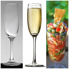 Flutes can be used for so many food & drink recipes!