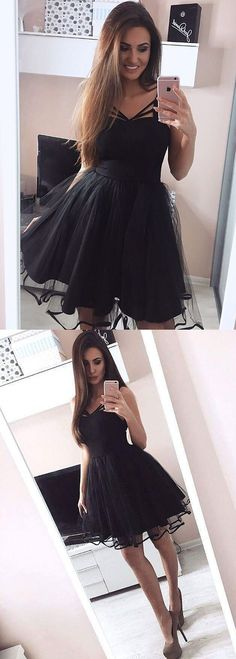 little black dresses,black homecoming dresses,short homecoming dresses,tulle homecoming dresses