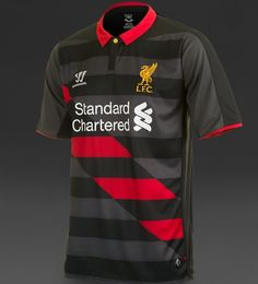 Liverpool FC Third Jersey 2014/15- Black  Red