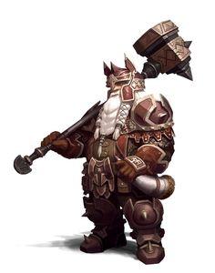 Dwarf Cleric of Torag - Pathfinder PFRPG DND D&D d20 fantasy