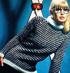 Ski sweater 1967. Ski Fashion, 1960s Fashion, Sport Fashion, Vintage Fashion, Womens Fashion, Vintage Ski, Vintage Winter, Vintage Mode, Vintage Sport