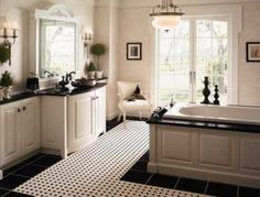 Black and white bathroom  Inspirational Pictures of Bathroom Makeovers