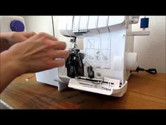 Serger 101: Threading a Brother 1034d Serger for Roll Hemming by Create Kids Couture - YouTube