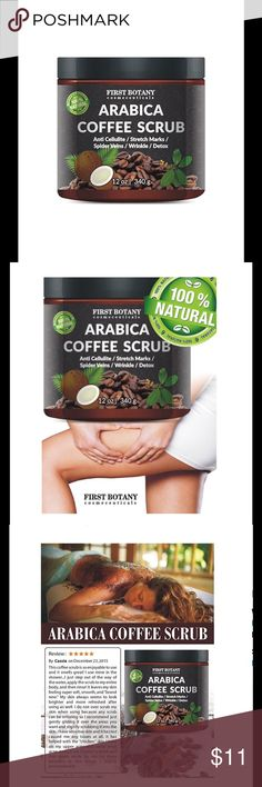 ✨🆕 Anti Cellulite Varicose Spider Vein Acne Scrub BRAND NEW, never opened. 100% Natural Arabica Coffee Scrub 12oz. With Organic Coffee, Coconut & Shea Butter. Best acne, anti cellulite & stretch mark treatment. Spider vein therapy for varicose veins & eczema. Thanks for looking 💋 BUNDLE FOR 20% DISCOUNT ✨ Makeup