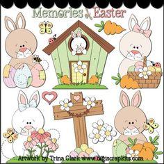 Easter Time 2 Clip Art - Original Artwork by Trina Clark