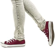 maroon converse. I love the denim, I have a pair that look like that but red I also have a teal pair